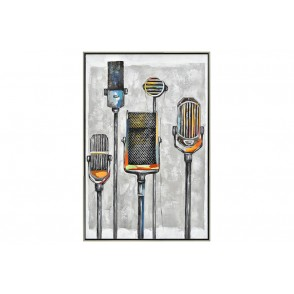TA5565 - MICROPHONES VINTAGE CADRE ARGENT 90*60 - GALLERY