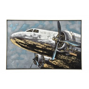 TA5591 - TABLEAU AVION 60*90 CADRE ARGENT - GALLERY