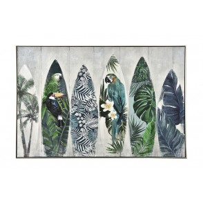 TA5603 - TABLEAU PLANCHES SURF 80*120 CADRE ARGENT - GALLERY