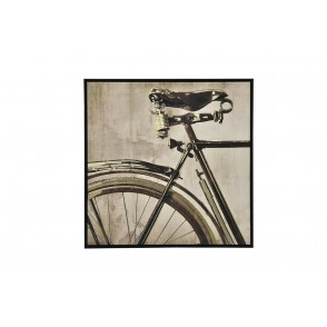 TA5605 - TABLEAU BICYCLETTE SEPIA 60*60 CADRE NOIR - GALLERY