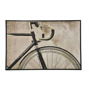TA5609 - TABLEAU BICYCLETTE SEPIA 60*90 CADRE NOIR - GALLERY
