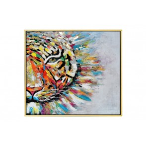 TA5613 - TABLEAU TIGRE 80*80 CADRE OR - GALLERY
