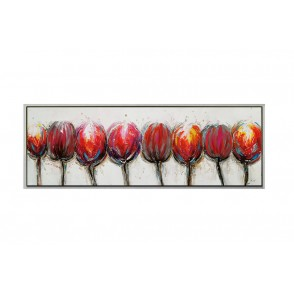 TA5619 - TABLEAU TULIPES 40*120 CADRE OR - GALLERY