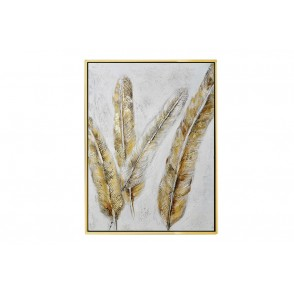 TA5623 - TABLEAU PLUMES OR 80*60 CADRE OR - GALLERY