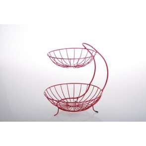 UD7681 - COUPE A FRUITS 2 ETAGES ROUGE - HOME