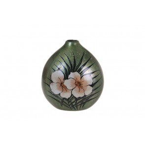 VA10336 - VASE FORME BOULE DECOR TROPICAL - ACAPULCO