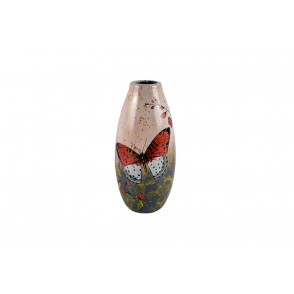 VA10414 - VASE DECOR PAPILLON - ACAPULCO