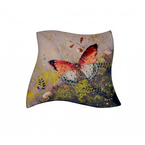 VA10416 - PLAT CARRE DECOR PAPILLON - ACAPULCO