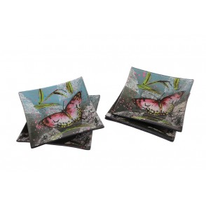 VA10456 - COUPELLES DECOR PAPILLON - ACAPULCO