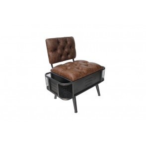 AT1018 - TRUNK CHAIR WITH SIDE STORAGE COMPARTMENTS - CONFORT
