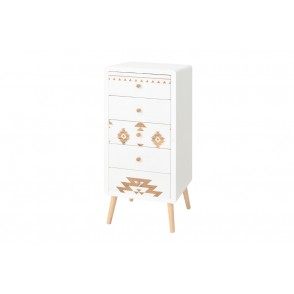 BP3890 - TALL CABINET 5 DRAWERS - IQUITOS