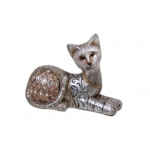 DG3137 - LAYING CAT CHAMPAGNE - GOLD