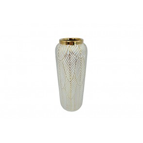 DT2807 - HIGH DEOCR LEAVES VASE - EQUINOXE