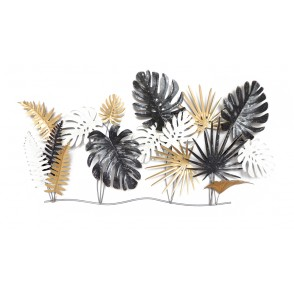MD4811 - JUNGLE LEAVES GREY/GOLD/WHITE - BEAUX-ARTS