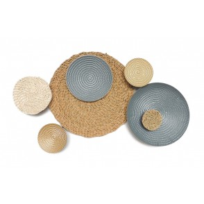 MD4821 - METAL DISCS WITH RATTAN  - BEAUX-ARTS