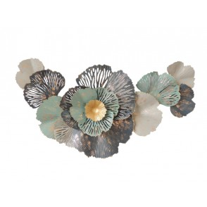 MD4824 - GINKGO FLOWER ON LEAVES BLUE/WHITE/GOLD - BEAUX-ARTS