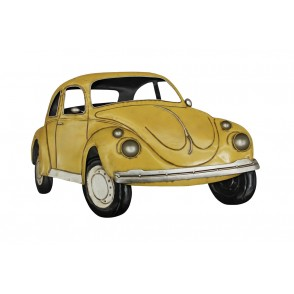 MD4914 - YELLOW BEETLE VINTAGE WALL DECO - BEAUX-ARTS