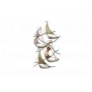 MD4995 - SCULPTURE 4 GOLD / COPPER / SILVER SAILBOATS - BEAUX-ARTS