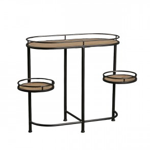 MM01237 - CONSOLE TABLE ROUND SHELVES - BAXTER