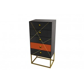 MM01316 - CABINET 5 DRAWERS - TERRACOTTA