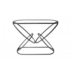 MM01338 - CONSOLE TABLE DOUBLE RINGS ROUND SHAPE COL.GREY - ART DE FER