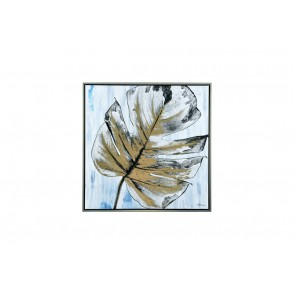 TA5460 - MONSTERA LEAF SILVER FRAME 60*60 - GALLERY
