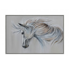TA5526 - WHITE HORSE WITH MANE IN THE WIND 80*120 - GALLERY