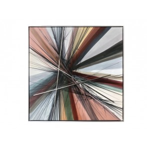 TA5535 - METAL ABSTRACT LINES MULTICOLOR 100*100 - GALLERY