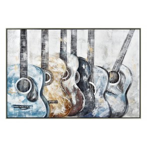 TA5566 - GUITARS WITH COLORS SILVER FRAME 70*100 - GALLERY