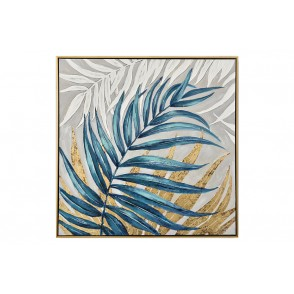 TA5567 - LEAVES BLUE/GOLDEN COLORS 90*90 - GALLERY