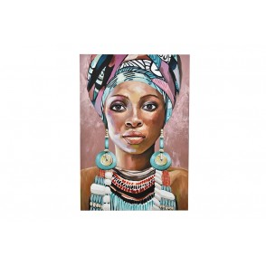 TA5579 - PAINTING WOMAN AFRO ETHNIC 100*70 - GALLERY
