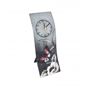 VA10358 - CLOCK PINK BUTTERFLY  - ACAPULCO