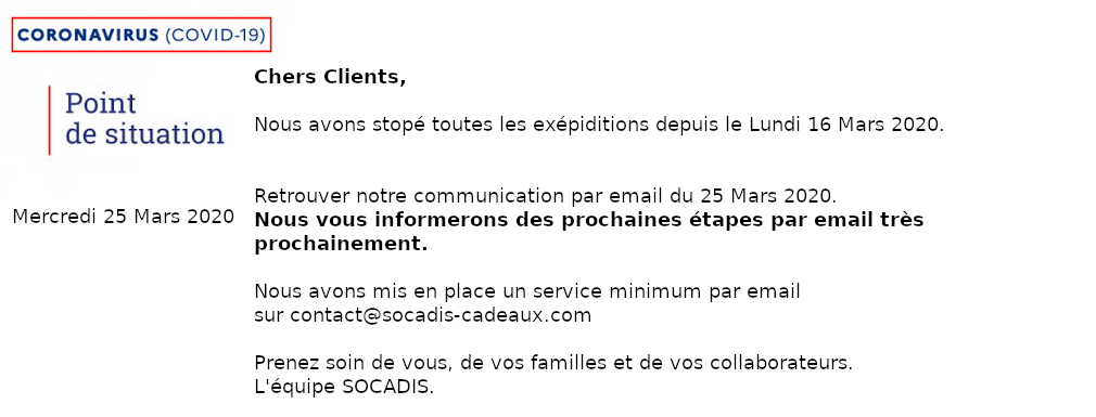 Emailing 25 Mars COVID-19